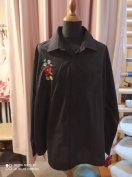 Kalocsai mintás fekete férfi ing 2XL -3XL es