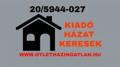 Kiadó házat keresek Székesfehérváron megbízható ügyfeleim részére