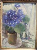 Klammer Mariska: Virágcsendélet bokállyal - festmény eladó