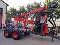 Krpan 12 tonnás erdészeti pótkocsi 8,6-os daruval eladó