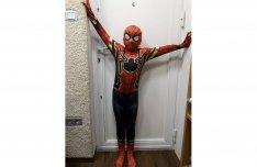 Különleges feszülős Pókember farsangi jelmez Spiderman elasztikus