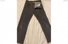 Levis W 32 L 30 501 MADE IN USA Új Fekete Eredeti Vintage Prémium