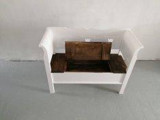 Lóca asztal szék rusztikus vintage parasztbútor vídék tálaló