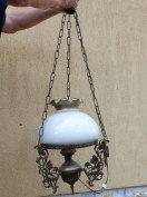 Lüszter lámpa,szecessziós elektromos réz lüszter lámpa eladó!