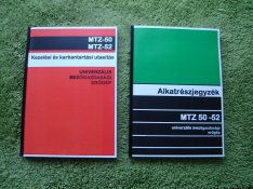 MTZ 50, 52 kezelési útmutató és alkatrészkatalógus