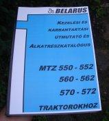 MTZ 550, 552 kezelési és alkatrészkatalógus