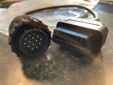 Mercedes OBD átalakító kábel diagnosztika 14 pin láb delphi autocom LT