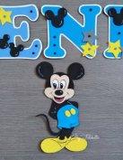 Mickey stílúsú dekorgumi névtábla babanév falmatrica mickey egér
