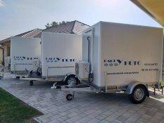 Mobil hűtőkamra, hűtő utánfutó, hűtőkocsi bérelhető