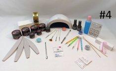 Műköröm Építő Csomag Műkörmös Kellékek LED UV Lámpa!