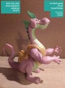 My little pony interaktív sárkánya, arcán halvány filcnyom, ára tükröz