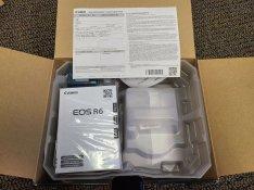New in Box Canon EOS R6 20.1MP Mirrorless Camera Black