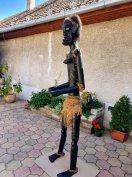 Óriás 200cm -es afrikai fa szobor kenyából