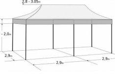 Pavilon Sátor Árusító Rendezvény Piaci Garázs Raktár sátor 3,0 x 6,0m