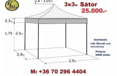 Pavilon Sátor Árusító Rendezvény Piacos Garázs Tároló sátor