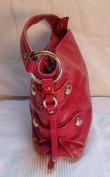 Piros Donna Karan New York DKNY valódi bőr cipzáros válltáska