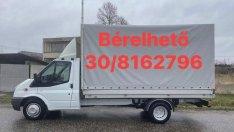 Platós ponyvás zárt teherautó furgon autómentő tréler bérlés bérbeadás