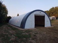Professzionális, félkör alakú sátrak raktározási vagy ipari célra