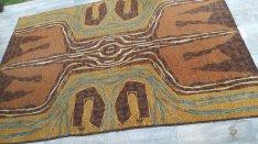 Retro mintas retro régi szőnyeg eladó