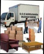 S.O.S. Költöztetés bútor szállítás fuvarozás