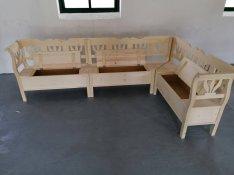 Sarokülő lóca karosláda kertibútor szék kültéribútor