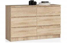 Sonoma tölgy komód - 6 fiók - 120 cm - Akciós ár