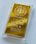 Svájci (Argor) arany tömb replika