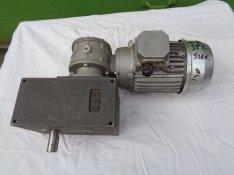 Szakaszos forgású, Hajtóműves villanymotor, 380 V., 0. 37 Kw., 35 ford