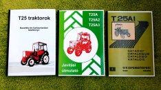 T25 traktor kezelési, javítási és alkatrészkatalógus
