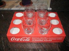 Telj. új eredeti Coca-Cola Classic 6db-os pohárkészlet, pohár szett!