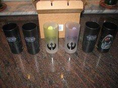 Telj. új eredeti Disney Star Wars 6db-os üveg pohárkészlet, pohár!