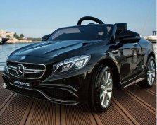 Új Mercedes AMG S 63 Elektromos kisautó 12 Voltblack3 sebesség, USB,