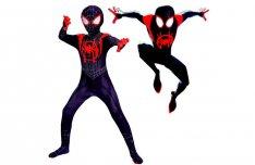 Új Miles Morales Fekete-piros Pókember farsangi jelmez Spiderman