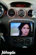 Új Peugeot Android 2din gps fejegység autó multimédia 308 408 307 hifi