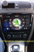 Új Skoda Octavia 2 Android magyar multimédia rádió hifi fejegység GPS