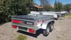 Új Trigano 2 tengelyes 2P233 750 kg-os utánfutó eladó! 3 év garancia!
