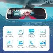 Új autó visszapillantó tükör GPS 4G wifi fedélzeti kamera tolatókamera