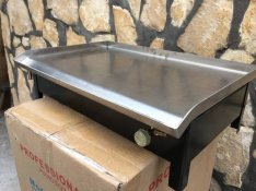 Új inox Rostlap hús sütő lap nagy teljesítményű grill sütő gázos