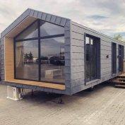 Újépítésű Prémium 60nm2 4 évszakos gépesített + bútor mobilhaz 2 szoba