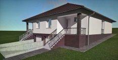 Újépítésű, földszintes, garázsos ikerház Rákoskerten