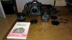 Újszerű állapotban lévő Canon 450D fényképezőgép eladó