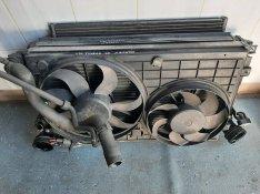 VW Touran hűtősor , vízhűtő , klímahűtő , ventilátor
