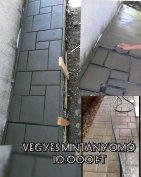 Vegyes sablon fémből készűlt beton mintanyomó