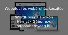 Wordpress- Weboldal/Webáruház készítés - Tartalommenedzselés