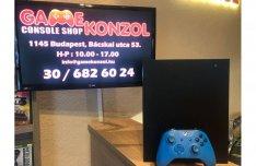Xbox ONE X Black Edition 1TB, dobozában, 6 hó teljesk.gar. Bp-i üzletb