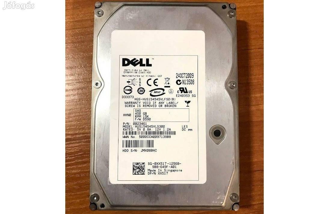 10 darab 450 GB-os SAS merevlemez