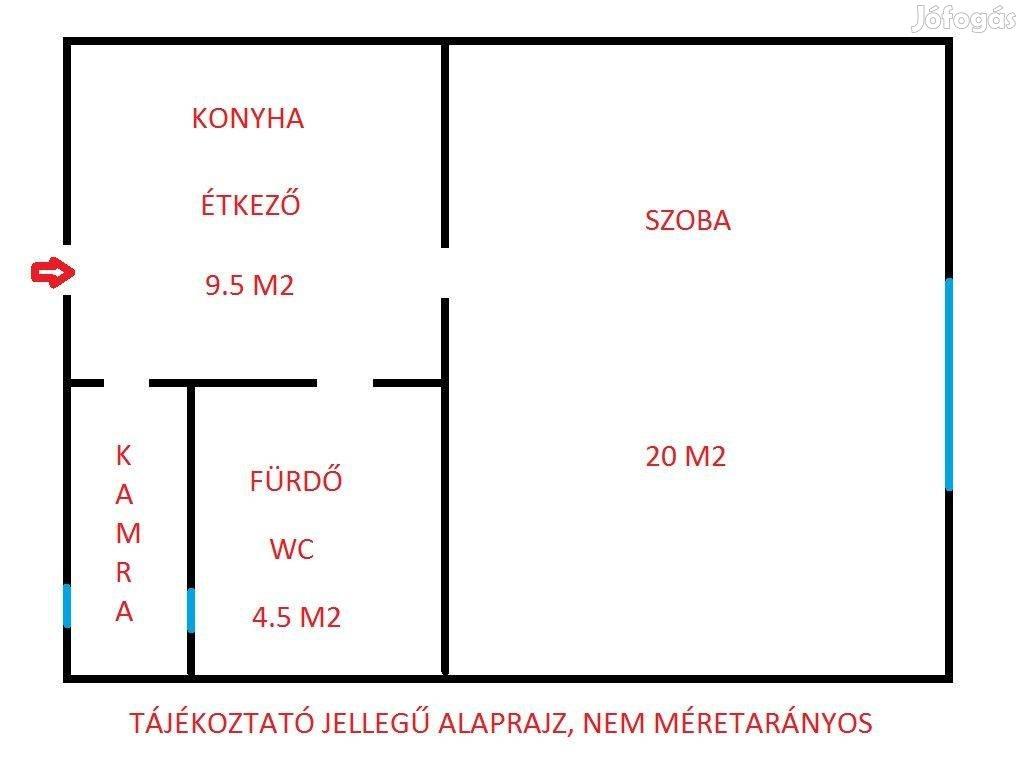 35 m2-es lakás eladó Rákospalotán, udvari garázs használattal