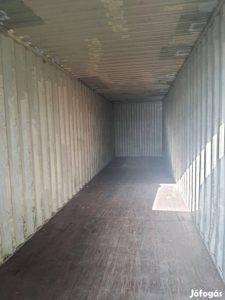 40 láb méretű használt raktárkonténer, eladó konténer, készletről