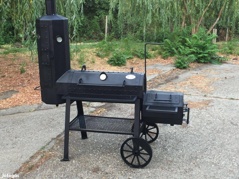 414BBQ- offset smoker-amerikai barbecue sütő