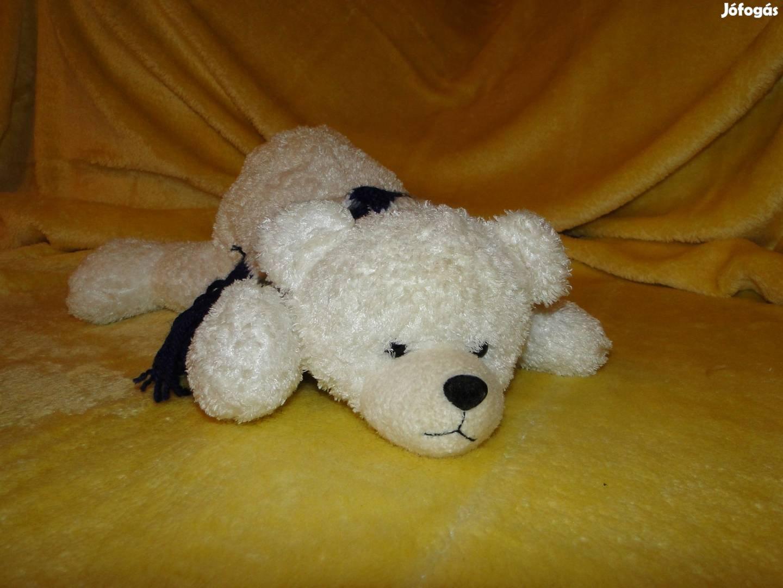 45 cm es Jeges maci , medve , mackó , sállal a nyakában. Minőségi ,, 2. Kép